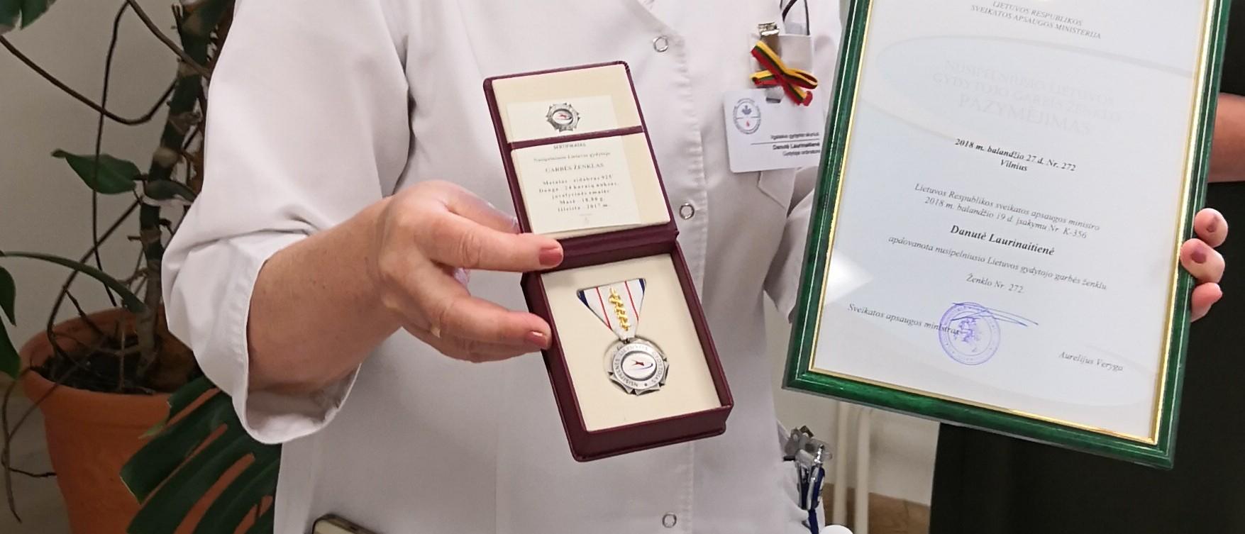 Apdovanoti darbuotojai